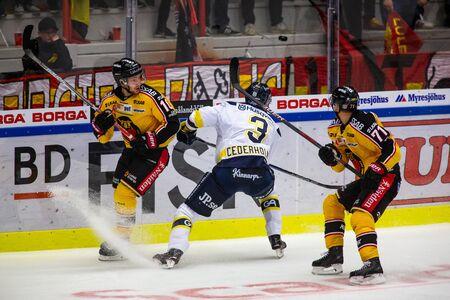Lulea, Sweden - september 28, 2017: COOP Norrbotten Arena, Swedish Hockey League SHL, Lulea Hockey vs HV71 - EDITORIAL Sajtókép