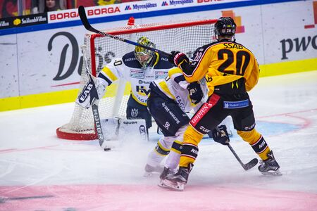 Lulea, Sweden - september 28, 2017: COOP Norrbotten Arena, Swedish Hockey League SHL, Lulea Hockey vs HV71 - EDITORIAL Stock fotó - 138205020