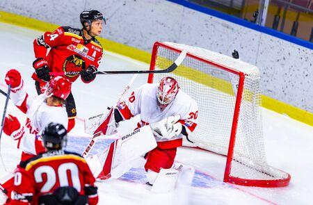 Lulea, Sweden - september 06, 2018: COOP Norrbotten Arena, Swedish Hockey League SHL, Lulea Hockey vs Timra IK - EDITORIAL (2-0 Lulea) Stock fotó - 138205054