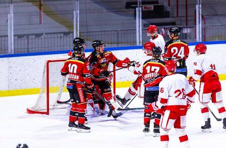 Lulea, Sweden - september 06, 2018: COOP Norrbotten Arena, Swedish Hockey League SHL, Lulea Hockey vs Timra IK - EDITORIAL (2-0 Lulea) Stock fotó - 138205060