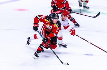 Lulea, Sweden - september 06, 2018: COOP Norrbotten Arena, Swedish Hockey League SHL, Lulea Hockey vs Timra IK - EDITORIAL (2-0 Lulea)