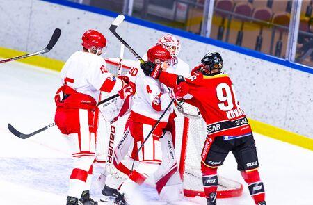 Lulea, Sweden - september 06, 2018: COOP Norrbotten Arena, Swedish Hockey League SHL, Lulea Hockey vs Timra IK - EDITORIAL (2-0 Lulea) Stock fotó - 138205062