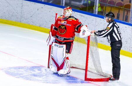 Lulea, Sweden - september 06, 2018: COOP Norrbotten Arena, Swedish Hockey League SHL, Lulea Hockey vs Timra IK - EDITORIAL (2-0 Lulea) Stock fotó - 138205098
