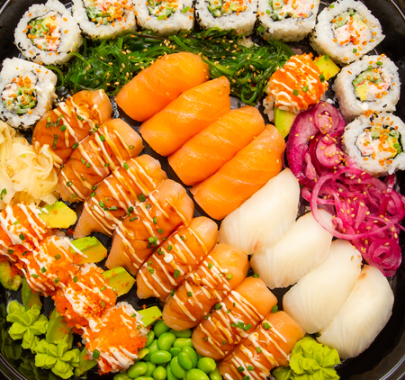 Sushi food art - beautiful and colorful dinner 版權商用圖片