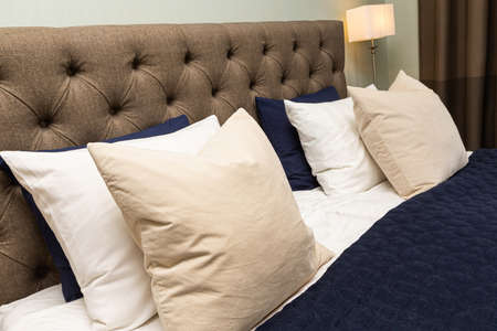 Interior home styling classic and modern bedroom
