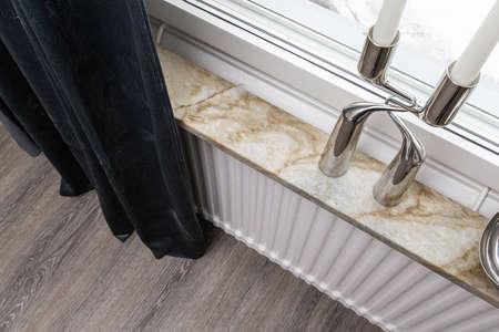 Interior home styling classic and modern windowsill