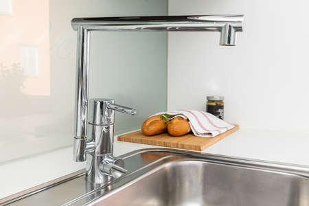 Interior home styling classic and modern kitchen water tap