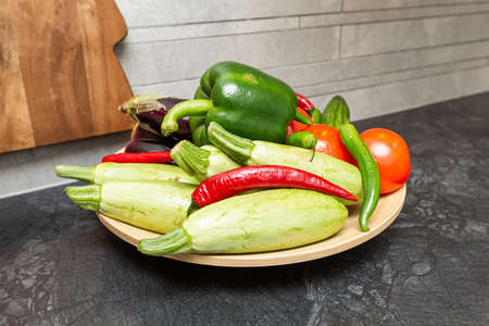 Interior home styling classic and modern details with vegetables Stock fotó