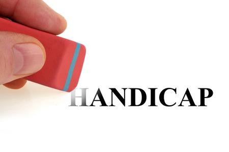 Clear the handicap Фото со стока - 102212121