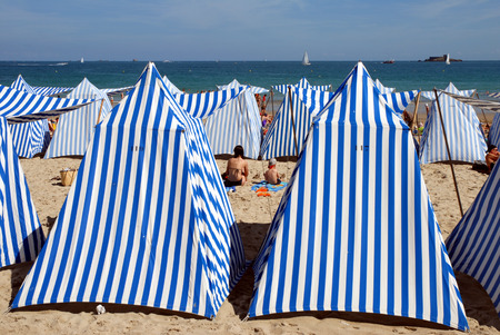 Tents on the beach of Dinard
