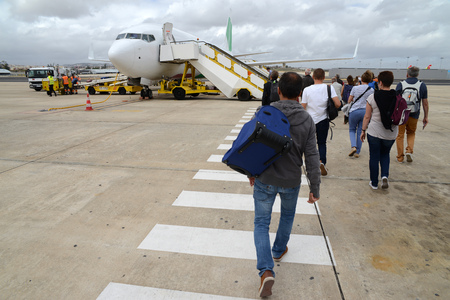 Embarkation on an airplane