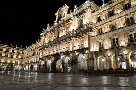 Plaza Mayor in Salamanca by night