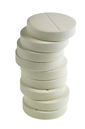 Stack of aspirin 版權商用圖片
