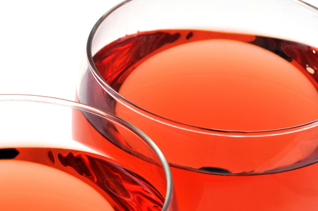 Glasses of ros