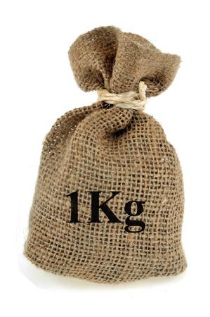 Canvas bag of one kilo