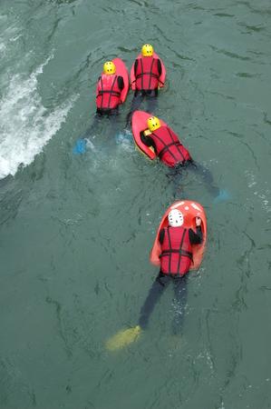 hydrospeed sport Stock Photo