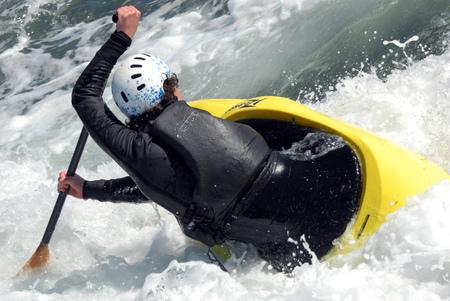 kayaker sports Stock Photo