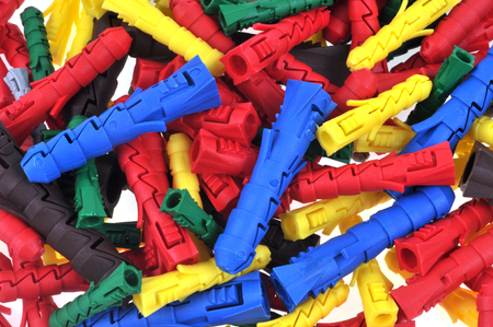 Plastic pegs of different color changers