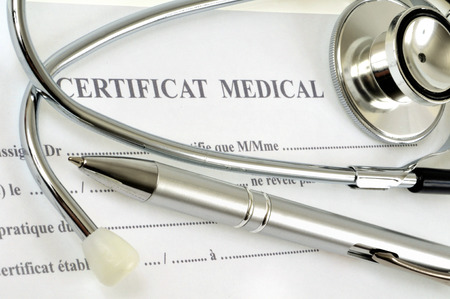 The medical certificate Stock Photo - 104714292