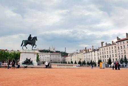Place Bellecour in Lyon