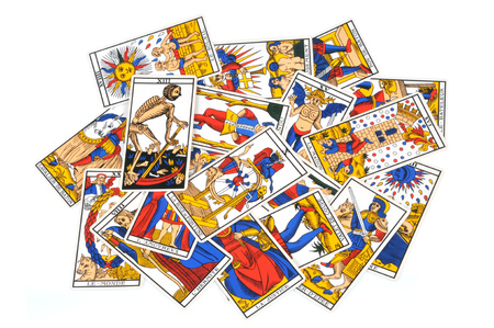 Tarot cards from Marseille Stock Photo