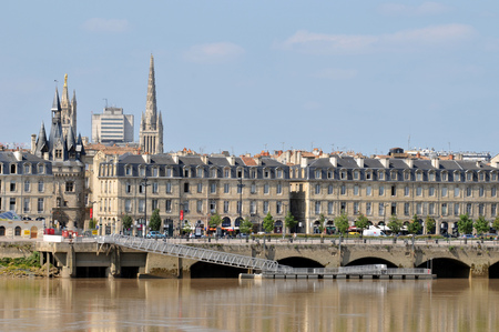The quays of Bordeaux 스톡 콘텐츠