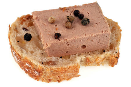 Tartine of foie gras and spices