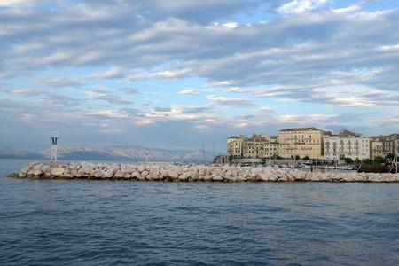 Corfu port dyke