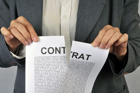 Destroy a contract Stockfoto
