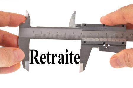 Retirement measurement concept Stock Photo - 105484249