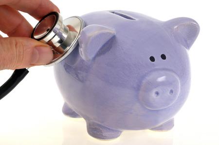 Auscultation of a piggy bank