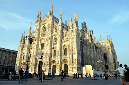 The cathedral of Milan Sajtókép