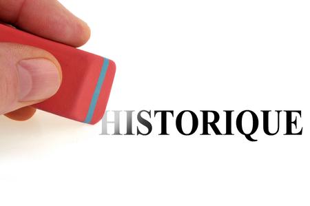 Clear history Фото со стока