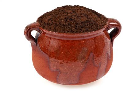 Ramekin of henna Stock Photo