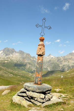 Eiserner Kreuzpass in den Alpen