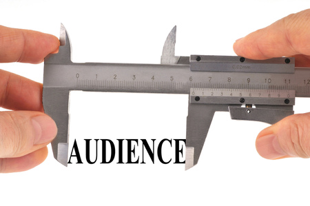 Measuring the audience with a vernier caliper