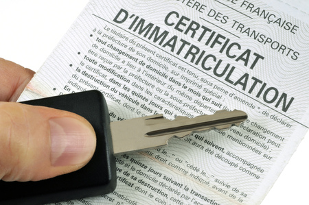 Certificate of registration and car key