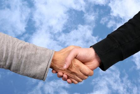 The handshake Stock Photo