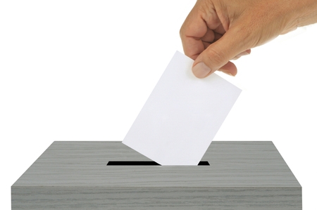 The ballot in the ballot box