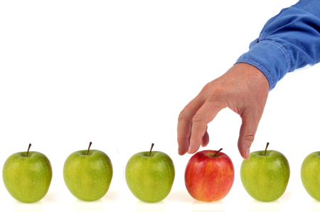 Choose an apple Stock Photo
