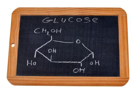 Chemical formula of glucose Banco de Imagens