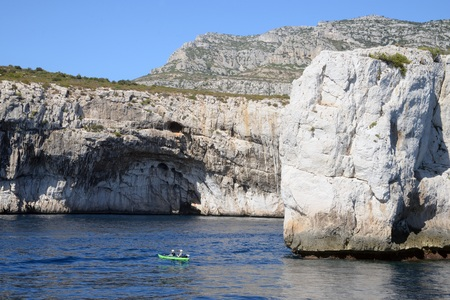 Les calanques à côté de Marseille