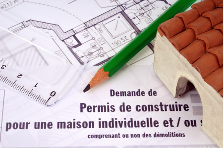 The building permit Archivio Fotografico - 106336820