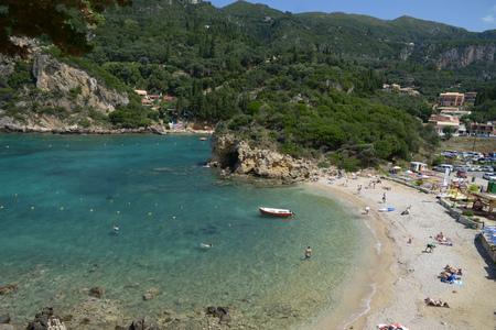 Paleokastritsa beach in Corfu Éditoriale