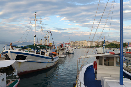 Port of Corfu Banque d'images - 110320204