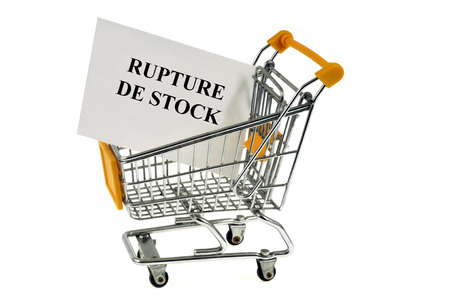 Out of stock concept Stock Photo