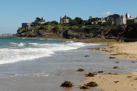 Saint Enogat beach in Dinard Banque d'images