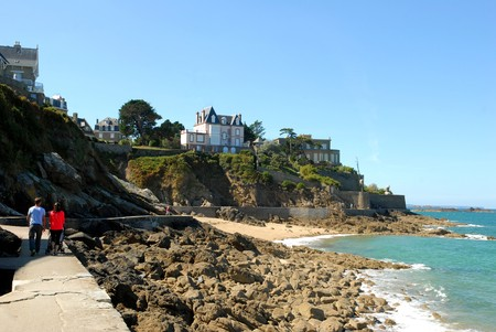 On the coast at Dinard Banque d'images