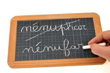 Spelling reform concept 免版税图像