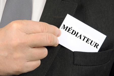 The mediator in closeup shot Stock Photo